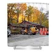 Deer Tractor  Shower Curtain