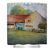 Deere On The Farm Shower Curtain