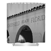Deerfield Beach Florida Shower Curtain
