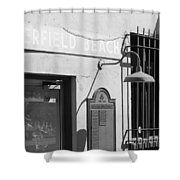 Deerfield Beach Train Station Shower Curtain