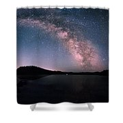 Deerfield Lake Milky Way Shower Curtain