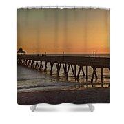 Deerfield Pier Sr Shower Curtain