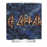 Def Leppard Albums Mosaic Shower Curtain