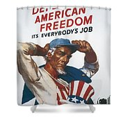 Defend American Freedom Shower Curtain