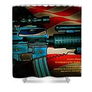 Defender Of Freedom - 2nd Ammendment Shower Curtain