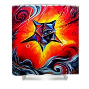 Defender Of The Way To Nirvana Shower Curtain