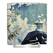 Defender. The Battle Of Berlin Shower Curtain