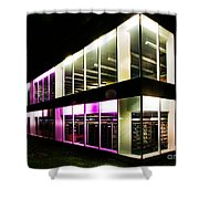 Defiance College Library Night Time Shower Curtain