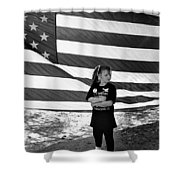 Defiant Girl Desert Storm Troops Welcome Home Celebration Ft. Lowell Tucson Arizona 1991 Shower Curtain