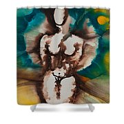 Defining Her Place More Than Series No. 1406 Shower Curtain