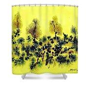 Deforestacion Shower Curtain
