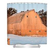 Defunct Winter Shower Curtain