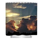 Degas Clouds #2 On Florida Sky Shower Curtain