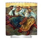 Degas: Dancing Girls, C1895 Shower Curtain