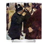Degas: Stock Exchange Shower Curtain