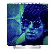 Deja Blue Rolling Stones Bill Wyman Shower Curtain