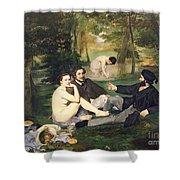 Dejeuner Sur L Herbe Shower Curtain by Edouard Manet