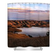 Del Valle At Sunset Shower Curtain