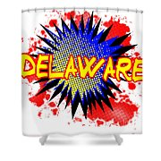 Delaware Comic Exclamation Shower Curtain