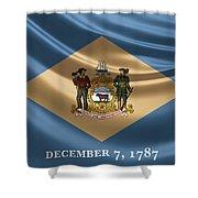 Delaware State Flag Shower Curtain