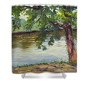 Delaware River At Washington's Crossing Shower Curtain