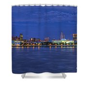 Delaware River Camden Cityscape Shower Curtain