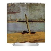 Delaware Riverscape From Gloucester Shower Curtain