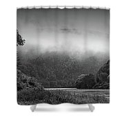 Delaware Water Gap Clouds Set In Shower Curtain