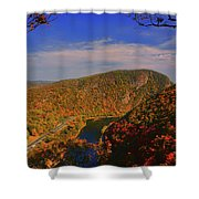 Delaware Water Gap In The Fall Shower Curtain