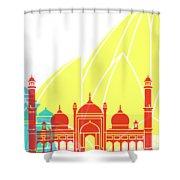Delhy Skyline Pop Shower Curtain