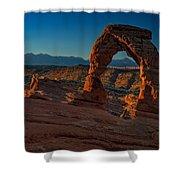 Delicate Arch At Sunrise Shower Curtain