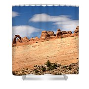 Delicate Arch Famous Landmark In Arches National Park Utah Shower Curtain
