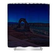Delicate Arch In The Blue Hour Shower Curtain