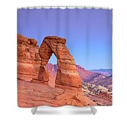 Delicate Arch Sunset Shower Curtain
