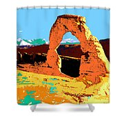 Delicate Arch Utah - Pop Art Shower Curtain