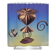 Delicate Balance Shower Curtain