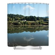 Delicate Clouds Reflected Shower Curtain