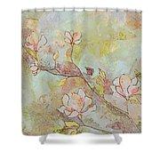 Delicate Magnolias Shower Curtain