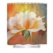 Delicate Rose On Color Splash Shower Curtain