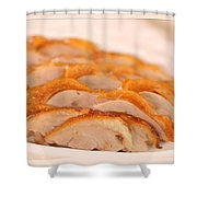 A Delicious Meal Of Roast Duck Shower Curtain