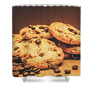 Delicious Sweet Baked Biscuits  Shower Curtain