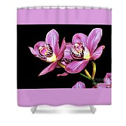 Delightful Orchid Shower Curtain