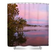 Delightfully Pink Morning Shower Curtain