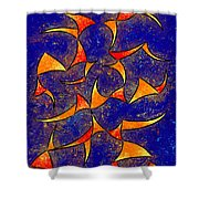 Delissianum V1 - Dancing Fire Shower Curtain