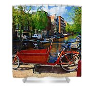 Delivery Bike Shower Curtain