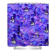 Delphinium Blue Shower Curtain