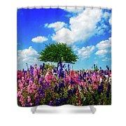Delphinium Daydreams Shower Curtain