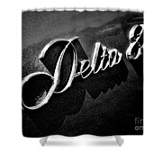 Delta 88 Badge Shower Curtain