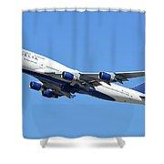 Delta Boeing 747-451 N667us Phoenix Sky Harbor October 7 2017  Shower Curtain