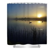 Delta Lakes Shower Curtain